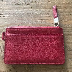 Tiffany red coin case goatskin w box
